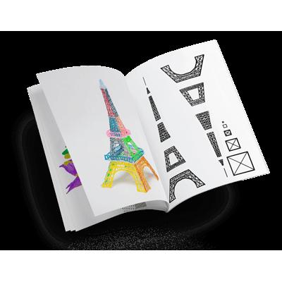 Книжка с трафаретами для 3Д рисования