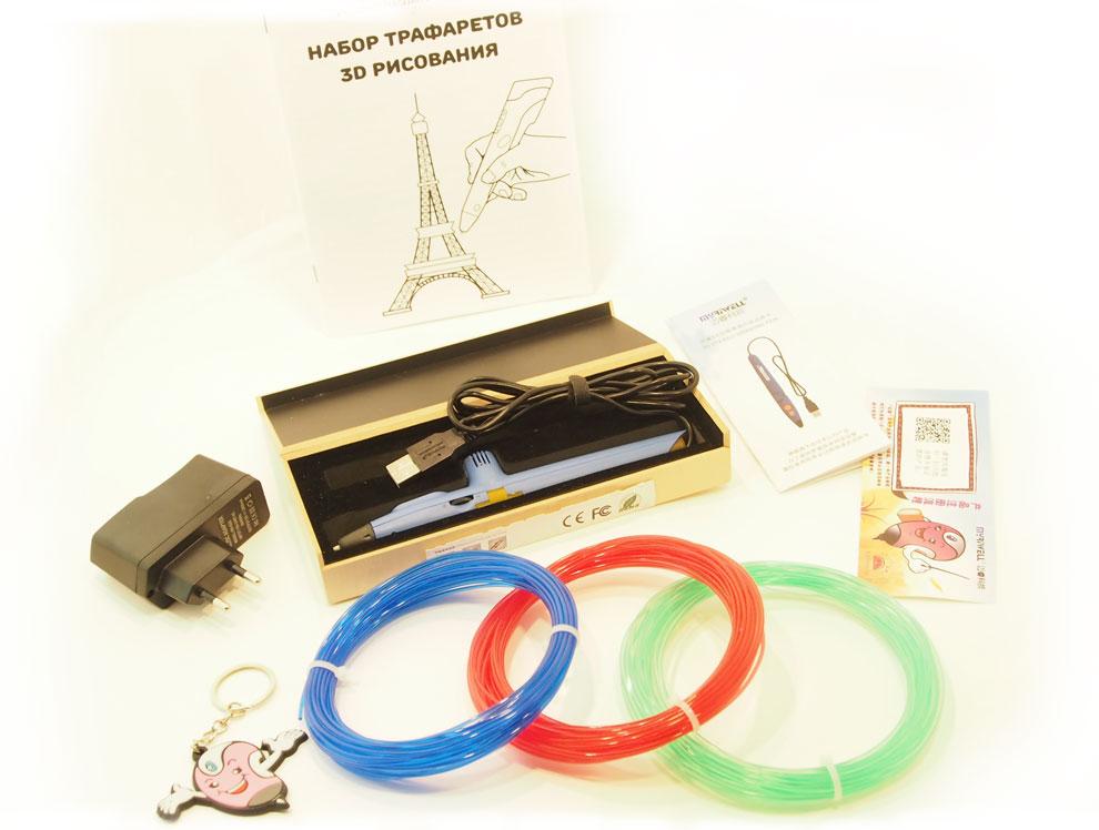 Что входит в комплект при покупки 3D ручки Myriwell RP200A